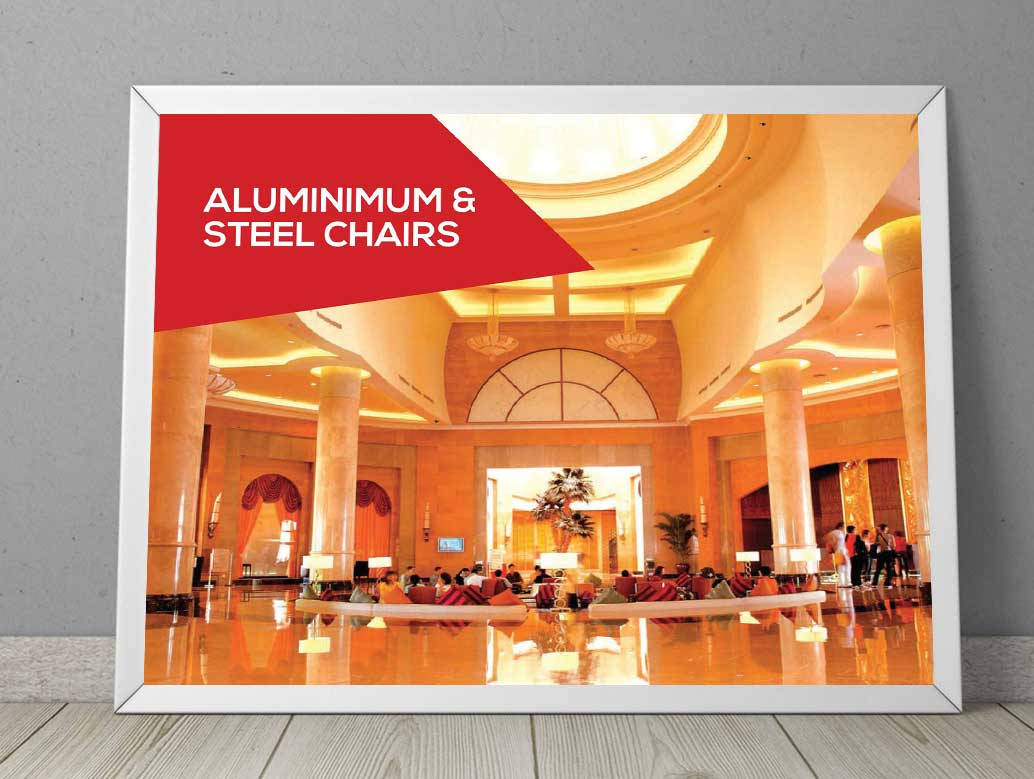 Aluminimum and steel stacking banquet chairs